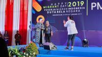 Serunya Main Game bareng Menteri Ketenagakerjaan di Acara Happy Migrant Day 2019