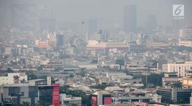 Penampakan Polusi Udara di Langit Jakarta