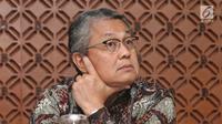 Gubernur Bank Indonesia (BI), Perry Warjiyo saat jumpa pers di Gedung BI, Jakarta, Jumat (29/06). Pada Rapat Dewan Gubernur BI suku bunga Deposit Facility (DF) juga naik 50 bps menjadi 4,50%,  (Liputan6.com/Herman Zakharia)