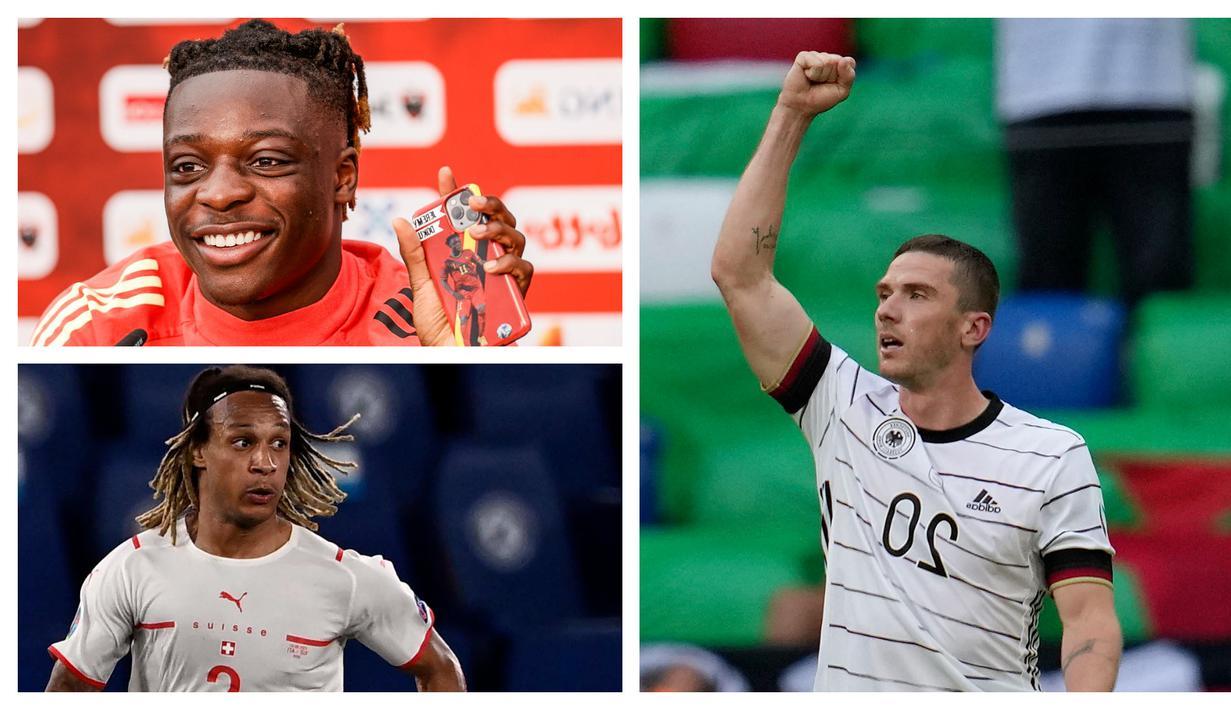 Foto kolase sejumlah pemain dengan nama unik yang tampil dalam pertandingan Euro 2020. (Foto; AP & AFP)