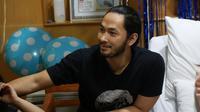 """""""Jadi hari Rabu malam sudah agak kontraksi dan dini hari sekitar jam 1 semakin hebat. Seminggu sebelumnya sudah kontraksi berulang-ulang,"""" Uki di RSIA Family, Pluit, Jakarta Utara, Minggu (11/3/2018). (Deki Prayoga/Bintang.com)"""