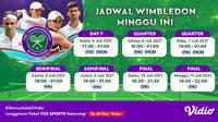 Live streaming Grand Slam Wimbledon 2021 dapat disaksikan melalui platform streaming Vidio. (Dok. Vidio)