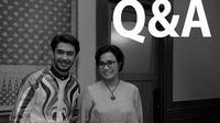 Sri Mulyani dan Reza Rahadian (Dok Foto: Instagram Sri Mulyani Indrawati)
