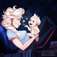 Berikut ini ada 10 foto ilustrasi yang menggambarkan putri Disney menjadi ibu. (Via: boredpanda.com)