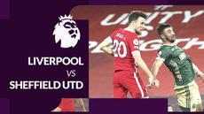 Berita motion grafis statistik Liga Inggris 2020/2021 kali ini tentang kemenangan Liverpool atas Sheffield United 2-1 pada pekan keenam yang digelar Minggu (25/10/2020) dinihari WIB.