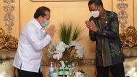 Kakanwil Kemenkumham Sulsel bertemu Gubernur Sulsel (Liputan6.com/Eka Hakim)