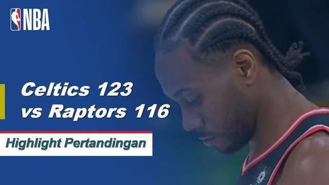 Kyrie Irving turun 41 poin dan mencetak 11 assist untuk memimpin Celtics dalam kemenangan 123-116 overtime atas Raptors, 123-116.