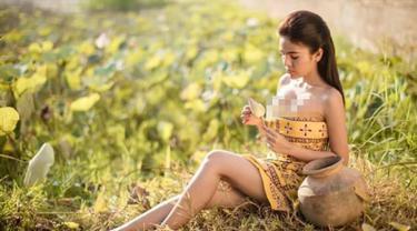 Aktris cantik asal Kamboja, Denny Kwan dilarang tampil untuk bermain film oleh Kementerian Kebudayaan dan Seni Rupa Kamboja karena telah melanggar perjanjian. (Facebook/ Denny Kwan)