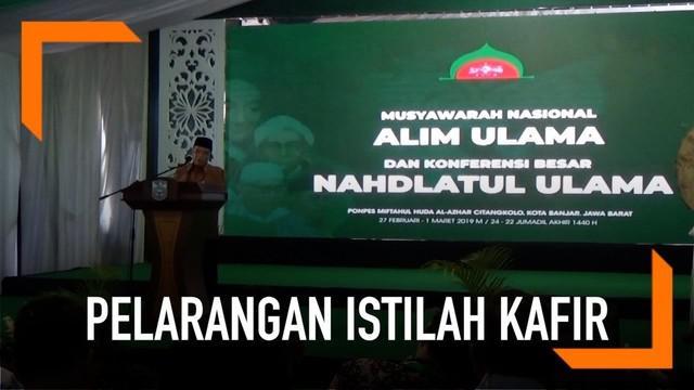 Nahdlatul Ulama menggelar konferensi besar di Banjar, Jawa Barat. Salah satu poinnya adalah mengimbau tidak menyebut kafir bagi warga non-muslim.