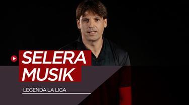 Berita video para legenda yang kini juga menjadi duta La Liga mengungkapkan selera musik mereka. Apa band atau musik favorit mereka?