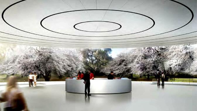 Penampakan Apple Campus 2 di kota Cuppertino, California. (Sumber wired.com)