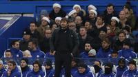 Manajer Chelsea, Antonio Conte, menilai seharusnya timnya mampu mencetak lebih dari satu gol melawan Southampton. (AFP/Adrian Dennis)