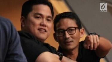 Tak banyak yang mengetahui persahabatan Erick Thohir dan Sandiaga Uno. Meski berbeda haluan di Pilpres 2019, hal tersebut tidak menjadi penghalang bagi persahabatan mereka yang telah terjalin sejak lama.