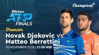 Saksikan Live Streaming ATP Finals Djokovic Vs Matteo