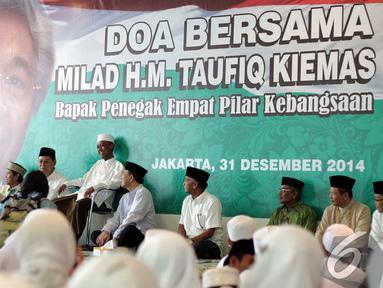 Massa PPP memperingati Milad mantan Ketua MPR Almarhum Taufiq Kemas di Kantor DPP PPP, Jakarta, Rabu (31/12/2014). (Liputan6.com/Faizal Fanani)