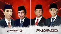 Jokowi-JK dan Prabowo-Hatta (Liputan6.com/Andri Wiranuari)
