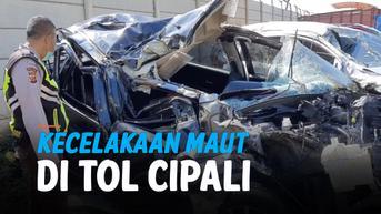 VIDEO: Kecelakaan Maut di Tol Cipali Akibat Ban Pecah, 4 Tewas