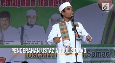 Ustaz Abdul Somad beri pencerahan pada masyarakat Pare-Pare agar pilkada di daerah tersebut berlangsung aman dan tenteram.