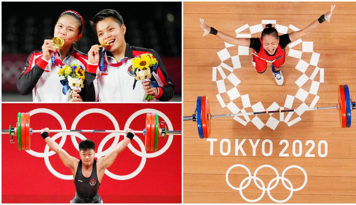 Enam dari 28 atlet yang mewakili Indonesia di Olimpiade Tokyo 2020 sukses membawa pulang medali ke tanah air. Berikut nama-nama atlet yang berhasil membuat harum ibu pertiwi.