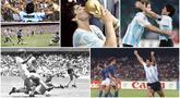 Penampilan Diego Maradona di lapangan selalu dinantikan dan mampu membuat decak kagum para pecinta sepak bola di seluruh penjuru dunia. Berikut potret aksi-aksi sang legenda saat membela timnas Argentina.