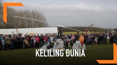 Seorang petualang bernama James Ketchell melakukan perjalanan sendiri keliling dunia menggunakan Gyrocopter. Ia memulai perjalananya sepanjang 23.000 mil dari Hampshire.