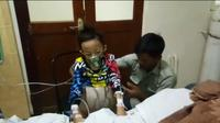 Resya Setiawan (11), bocah asal Tasikmalaya, Jawa Barat, didiagnosa penyakit tumor ganas yang menyerang perutnya. (Istimewa)