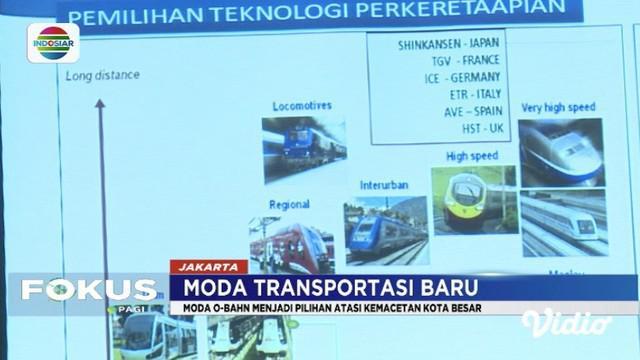 Kemenhub berencana merancang transportasi massal bernama O-Bahn untuk mengurai macet di Jakarta dan kota besar lain.