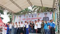 Wako Palembang dan Kapolres Palembang meresmikan even Millenial Road Safety Festival (Liputan6.com / Nefri Inge)