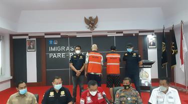 WNA yang bakar ruang Detensi Imigrasi Parepare ditangkap (Liputan6.com/Fauzan)