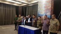 4 Ketum Parpol Koalisi Jokowi-Ma'ruf Kumpul Bahas Rencana Bergabungnya Partai Oposisi (Liputan6/Putu Merta)