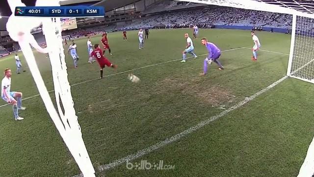 Shoma Doi mencetak gol tendangan tumit fantastis ketika Kashima Antlers menang 2-0 di kandang Sydney FC dalam ajang Liga Champions...