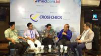 """Suasana diskusi """"Menghidupkan GBHN, Menghidupkan Orba?"""" di Jalan Wahid Hasyim, Menteng, Jakarta Pusat, Minggu (16/2/2020). (Merdeka.com/Muhammad Genantan Saputra)"""