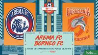 Shopee Liga 1 - Arema FC Vs Borneo FC (Bola.com/Adreanus Titus)