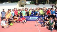Wasit yang disiapkan untuk Torabika Soccer Championship menjalani tes teori dan fisik selama dua hari, Senin (18/4/2016) dan Selasa (19/4/2016), di Jakarta. (Bola.com/Gerry Anugrah Putra)