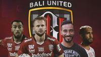 Bali United - Brwa Nouri, Melvin Platje, Diego Assis, Willian Pacheco (Bola.com/Adreanus Titus)