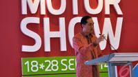 Mendag Muhammad Lutfi berharap dengan adanya pameran ini Indonesia bisa menjadi tuan rumah dalam industri otomotif di negeri sendiri dan mengalahkan industri otomotif Thailand, Jakarta, Kamis (18/9/2014) (Liputan6.com/Miftahul Hayat)