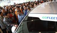 Peluncuran Gofleet di ajang Gaikindo Indonesia International Auto Show (GIIAS) 2019. Dok: Gofleet