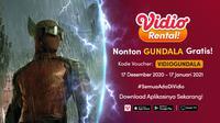 lasan Nonton Film Gundala Karya Joko Anwar di Vidio, Ada Promo Gratis Streaming. (Sumber : dok. vidio.com)