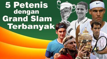 Video pemain tenis pria dengan peraih juara Grand Slam terbanyak di dunia, salah satunya Roger Federer petenis asal Jerman.