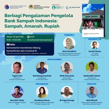 Webinar Dalam Berbagai Pengalaman Pengelola Bank Sampah Indonesia: