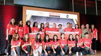 Djarum Foundation meneruskan tradisi pemberian bonus kepada atlet bulutangkis berprestasi 2018. Penghargaan diberikan di kawasan Senayan, Jakarta, Kamis (14/2/2019). (PBSI)