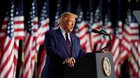 Dalam pidatonya, Trump terus mengkritik saingannya yaitu Joe Biden dari partai Demokrat. Ia menegaskan bahwa kemenangan Biden hanya akan memperburuk krisis yang mengepung Amerika Serikat (AP)