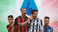 Serie A - Ilustrasi Bintang-bintang Serie A (Bola.com/Adreanus Titus)