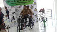 Sepeda Roda Tiga ITS (SeraITS) sebagai alat bantu terapi pasien pascastroke. (Foto: Liputan6.com/Dian Kurniawan)
