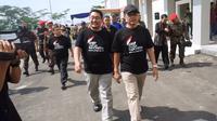 Ketua Umum PP Muhammadiyah Prof DR Haedar Nashir meresmikan tiga unit usaha di Universitas Muhammadiyah Purwokerto (UMP), Sabtu, 19 Oktober 2019. (Foto: Liputan6.com/Humas UMP/Muhamad Ridlo).