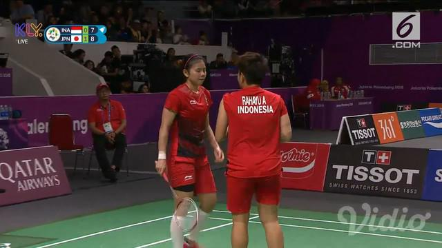 Ganda putri Indonesia, Greysia Polii / Apriani Rahayu harus mengakui keunggulan pasangan Jepang pada babak semifinal Asian Games 2018.