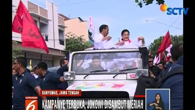 Selain mengenalkan program tiga kartu sakti, dalam orasinya Jokowi berharap kemenangan mutlak di Banyumas.