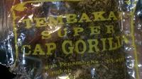 Tembakau Cap Gorila.(Istimewa)