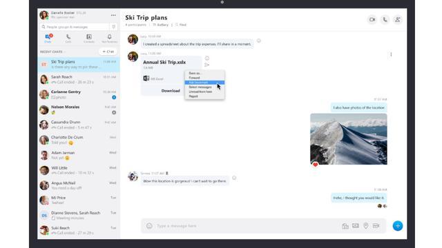 Fitur Add Bookmark pada Skype