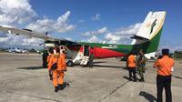 Pencarian tim SAR gabungan di Timika untuk Twin Otter PK - CDC seri 400 yang memiliki base di Bandara Timika. (Liputan6.com/Humas Polda Papua/Katharina Janur)